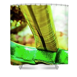 Custom Shop Stratocaster In Rare Green Sparkle Shower Curtain