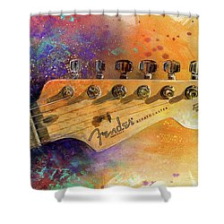 Fender Head Shower Curtain