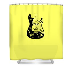 Fender Stratocaster 54 Shower Curtain by Mark Rogan
