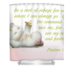 Shower Curtain featuring the photograph Fenton Glass Bear by Linda Phelps