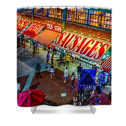Fenway Food Court 3845 Shower Curtain