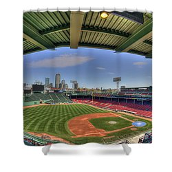 Fenway Park Interior  Shower Curtain by Joann Vitali