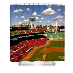 Shower Curtain featuring the photograph Fenway Park Iv  Fenway Park  by Iconic Images Art Gallery David Pucciarelli