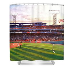 Fenway Park Shower Curtain by Rose Wang