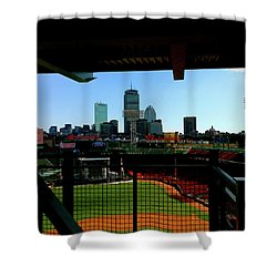 Shower Curtain featuring the photograph Fenway Park, Xi  by Iconic Images Art Gallery David Pucciarelli