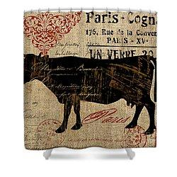 Ferme Farm Cow Shower Curtain