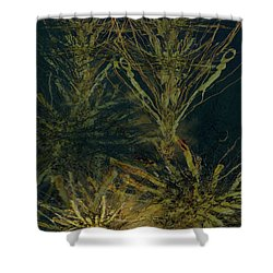 Fern Series Inky Aether Shower Curtain