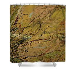 Fern Series Ping To Gray Tendril Detail Shower Curtain