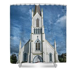 Shower Curtain featuring the photograph Ferndale Catholic Church by Greg Nyquist