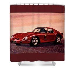 Ferrari 250 Gto 1962 Painting Shower Curtain by Paul Meijering