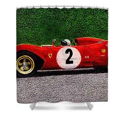 Ferrari 312p Pedro Rodriguez 1969 Shower Curtain by Ugo Capeto