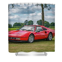 Shower Curtain featuring the photograph Ferrari 328 Gts by Adrian Evans