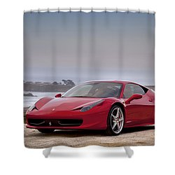 Shower Curtain featuring the photograph Ferrari 458 Italia by ItzKirb Photography