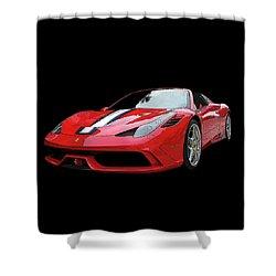 Ferrari 458 Speciale Aperta Shower Curtain