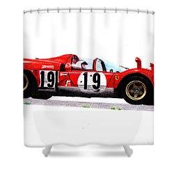 Ferrari 512s Mario Andretti 1970 Shower Curtain by Ugo Capeto
