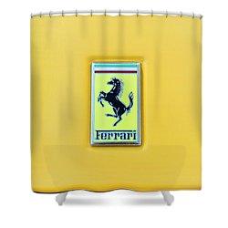 Shower Curtain featuring the photograph Ferrari Badge by Theresa Tahara