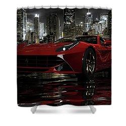 Shower Curtain featuring the photograph Ferrari F12berlinetta by Louis Ferreira