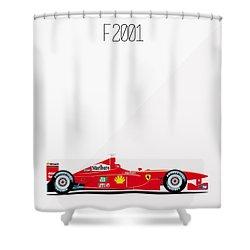 Ferrari F2001 F1 Poster Shower Curtain