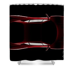 Ferrari F40 - Top View Shower Curtain