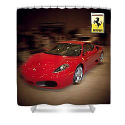 Ferrari F430 - The Red Beast Shower Curtain by Serge Averbukh