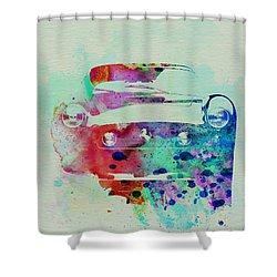 Ferrari Front Watercolor Shower Curtain by Naxart Studio