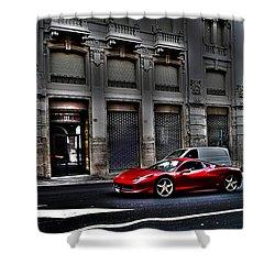 Ferrari In Rome Shower Curtain by Effezetaphoto Fz