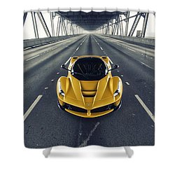 Shower Curtain featuring the photograph Ferrari Laferrari by ItzKirb Photography