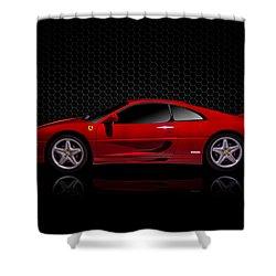 Ferrari Red - 355  F1 Berlinetto Shower Curtain by Douglas Pittman