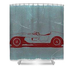 Ferrari Testa Rosa Shower Curtain by Naxart Studio