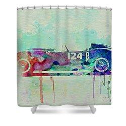 Ferrari Testa Rossa Watercolor 2 Shower Curtain by Naxart Studio