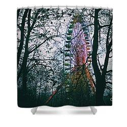 Ferris Wheel Shower Curtain by Ana Mireles