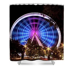 Ferris Wheel At Centennial Park 2 Shower Curtain