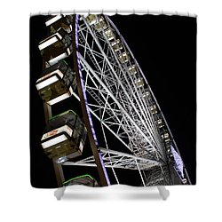 Ferris Wheel At Night 16x20 Shower Curtain