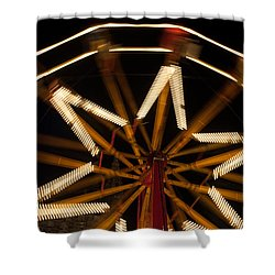 Ferris Wheel At Night Shower Curtain by Helen Northcott