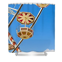 Ferris Wheel Cars In Toulouse Shower Curtain by Semmick Photo