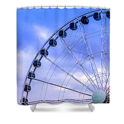 Ferris Wheel Shower Curtain by Cathy Donohoue