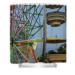 Ferris Wheel Lights At Dusk Closeup Shower Curtain