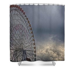 Shower Curtain featuring the photograph Ferris Wheel by Tad Kanazaki