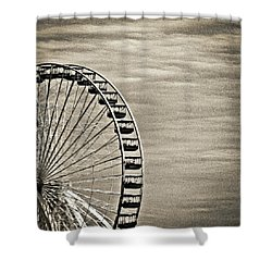 Ferris Wheel In Sepia Shower Curtain