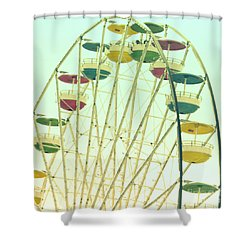 Shower Curtain featuring the digital art Ferris Wheel by Valerie Reeves