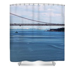 Ferry Across The Tagus Shower Curtain by Lorraine Devon Wilke