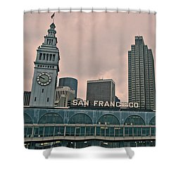 Shower Curtain featuring the photograph Ferry Arrival by Kim Wilson