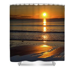 Ferry Beach Sunrise Shower Curtain
