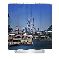 Ferry Boat Magic Kingdom Walt Disney World Mp Shower Curtain