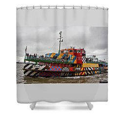 Ferry Cross The Mersey - Razzle Boat Snowdrop Shower Curtain