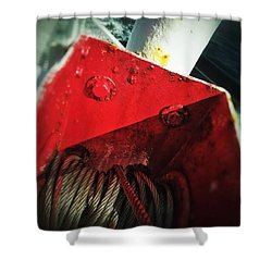 Shower Curtain featuring the photograph Ferry Hardware by Olivier Calas