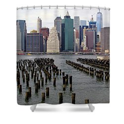 Ferry Hopping New York Shower Curtain