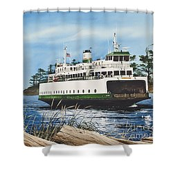 Ferry Illahee Shower Curtain by James Williamson