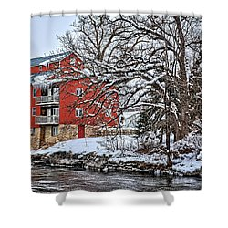 Fertile Winter Shower Curtain by Bonfire Photography