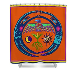 Shower Curtain featuring the digital art Fertility Dance by Vagabond Folk Art - Virginia Vivier